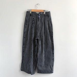 Urban Outfitters Pin Stripe Wide Leg Trouser Pants